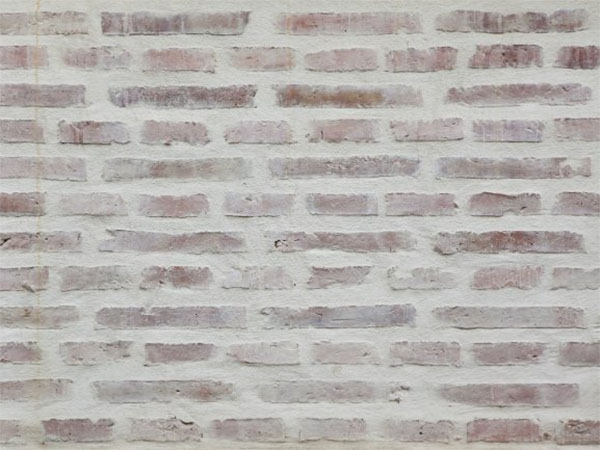 white washed brick